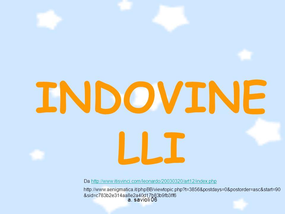 a. savioli 06 INDOVINE LLI Da http://www.itisvinci.com/leonardo/20030320/art12/index.phphttp://www.itisvinci.com/leonardo/20030320/art12/index.php htt