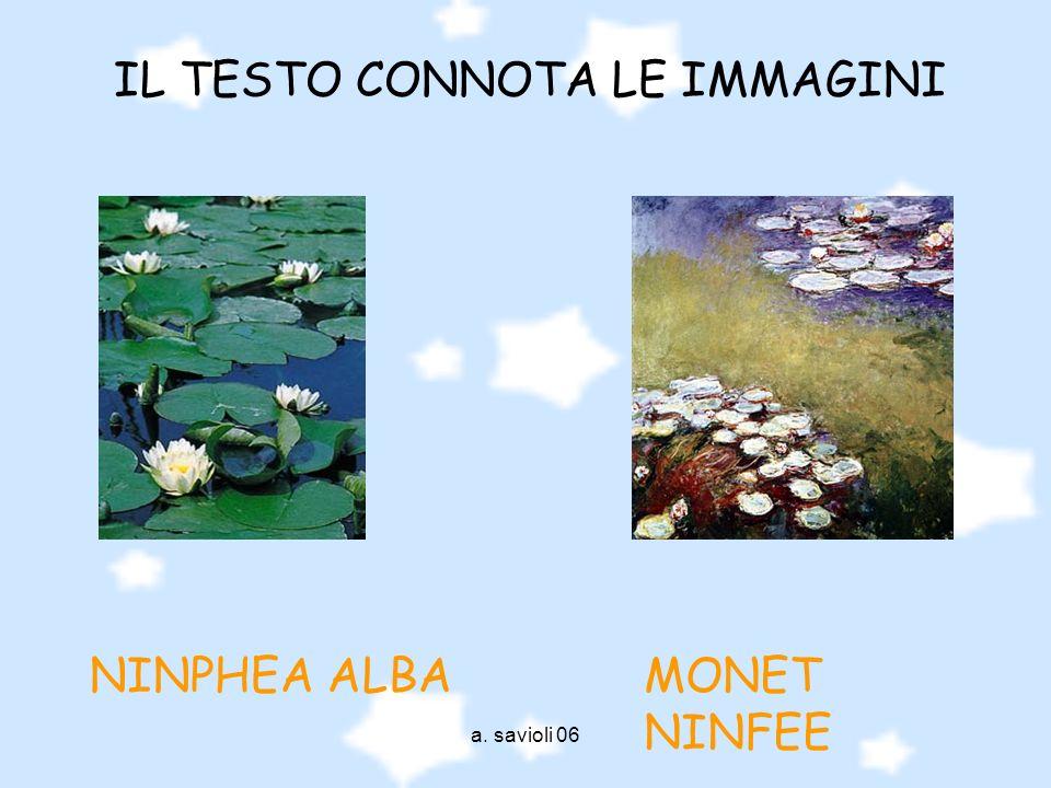 a. savioli 06 MONET NINFEE NINPHEA ALBA IL TESTO CONNOTA LE IMMAGINI