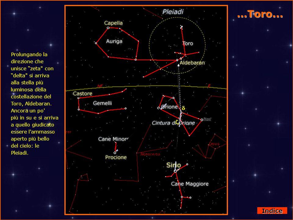 Da Orione al Toro Prolungando la direzione che unisce zeta