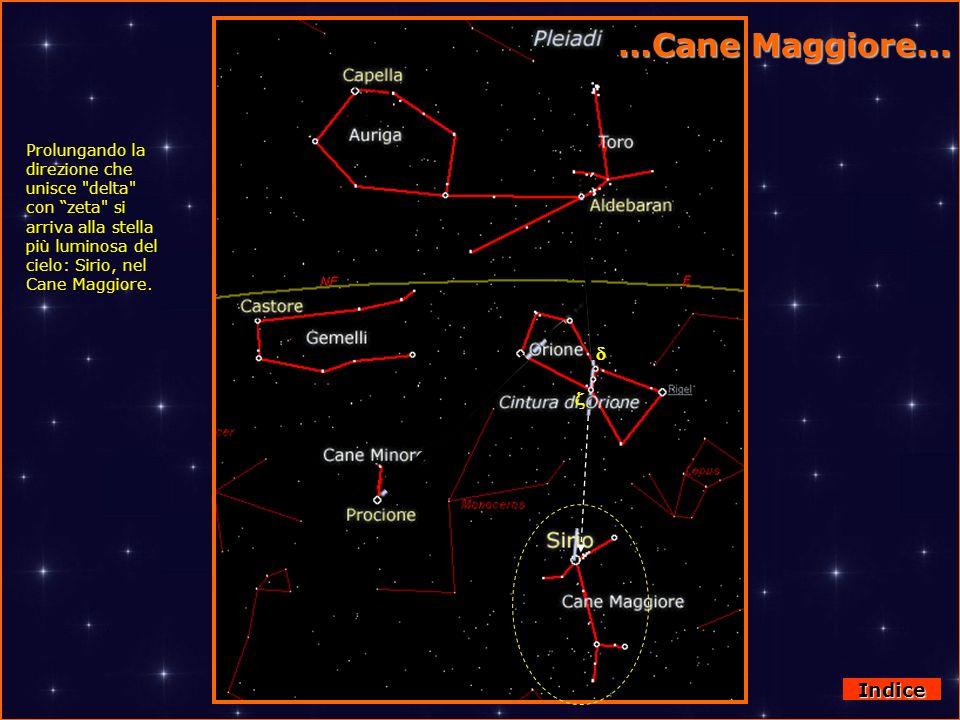 Da Orione al Cane Maggiore Prolungando la direzione che unisce