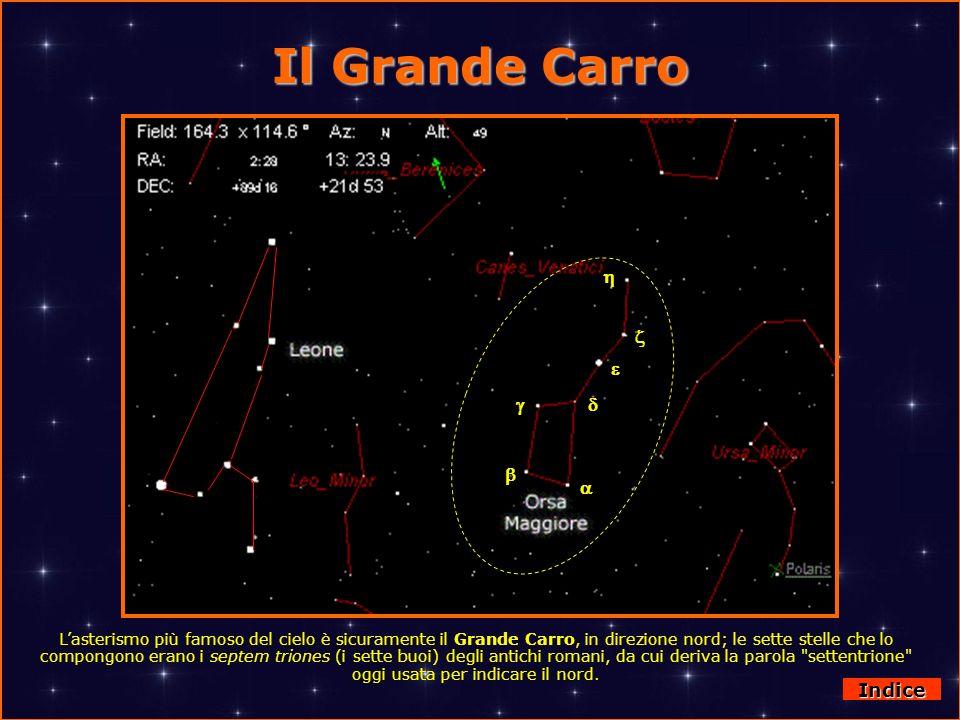 Il Grande Carro Lasterismo più famoso del cielo è sicuramente il Grande Carro, in direzione nord; le sette stelle che lo compongono erano i septem tri