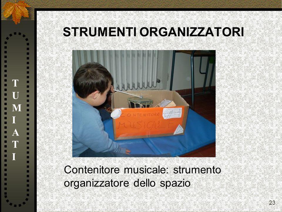 23 STRUMENTI ORGANIZZATORI TUMIATITUMIATI Contenitore musicale: strumento organizzatore dello spazio