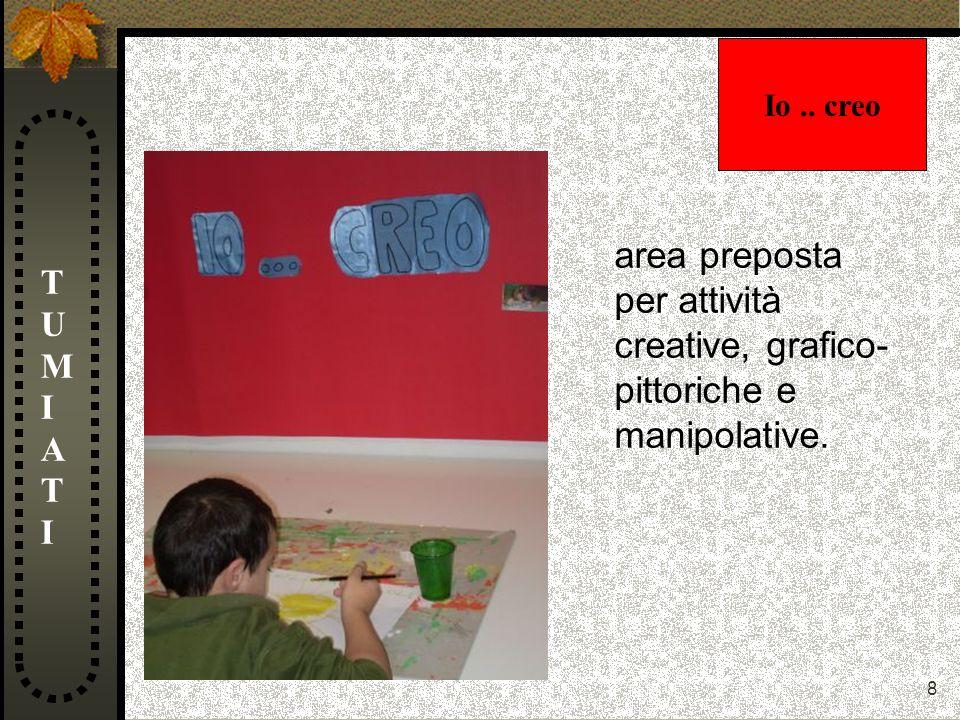 8 TUMIATITUMIATI area preposta per attività creative, grafico- pittoriche e manipolative. Io.. creo