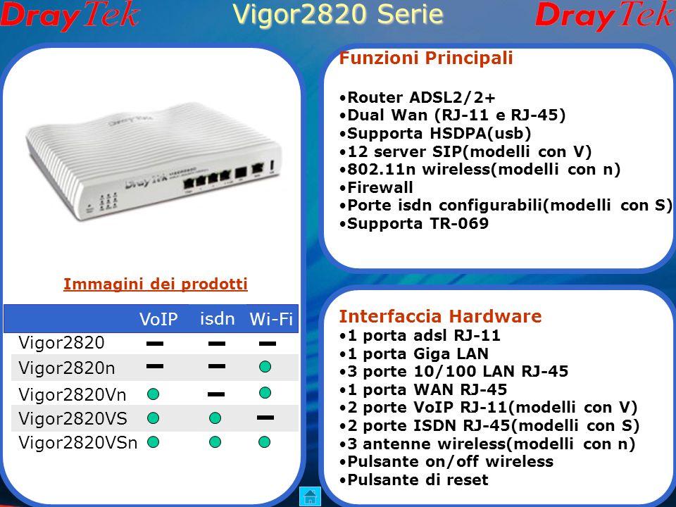 Vigor2800V Serie hardware