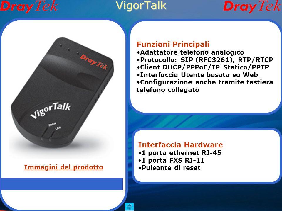 Vigor N61 usb Client Wi-Fi Funzioni Principali Compatibile con 802.11n Supporta standard 802.11b/g WEP 64/128bit e WPA/WPA2 Supporta WMM(Wi-Fi Multime