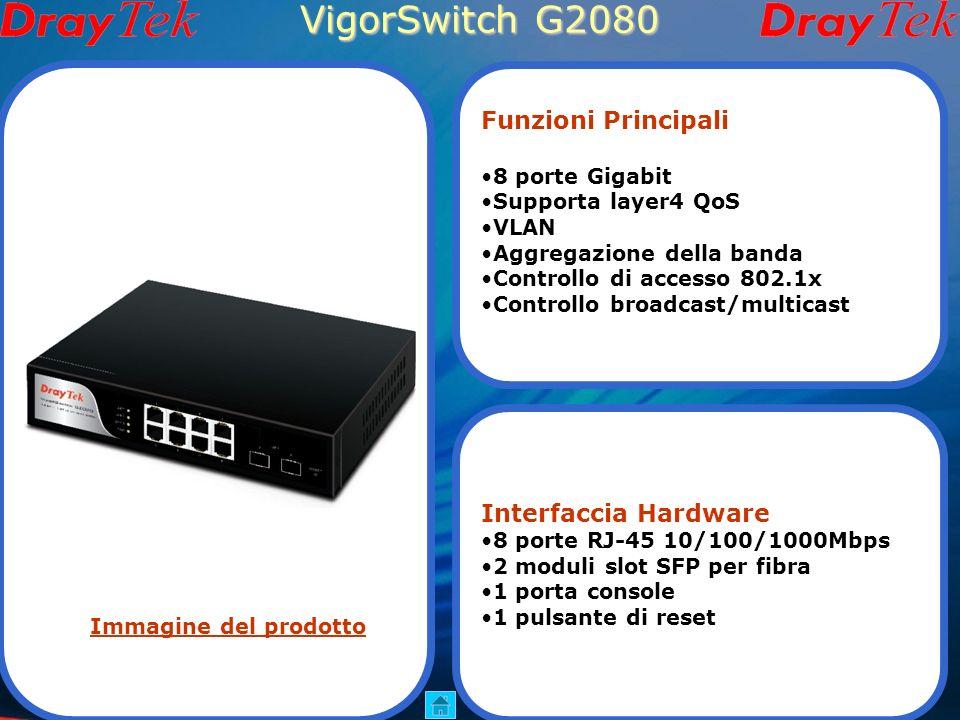 Vigor2710 Serie VoIP Wi-Fi Vigor2710 Vigor2710n Funzioni Principali Router ADSL2/2+ 2 connessioni VPN 6 server SIP(modelli con V) 802.11n wireless(mod