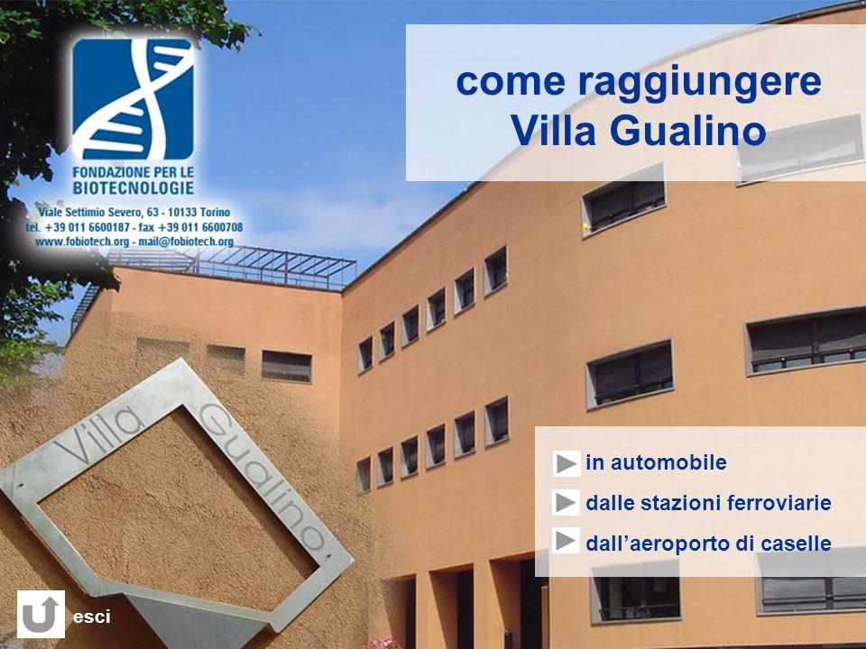 come raggiungere Villa Gualino - in automobile - dalle stazioni ferroviarie - dallaeroporto di caselle esci