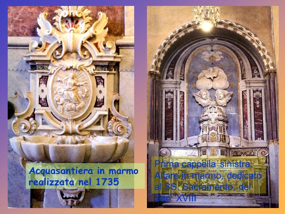 Schienali di stalli con sculture di S.Francesco da Paola e S.Agnese. Coro capitolare composto di 64 stalli e Sedia episcopale in legno di noce del 150