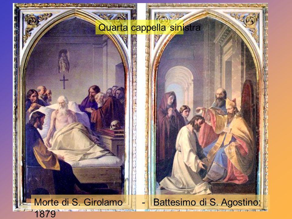 Quarta cappella sinistra Quarta cappella destra Cappelle dei Copatroni di Altamura: San Giuseppe e S. Irene.