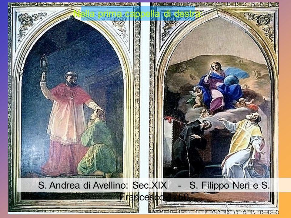 Sesta cappella sinistra S.Francesco di Sales (1879) – S. Vincenzo de Paoli (1880)