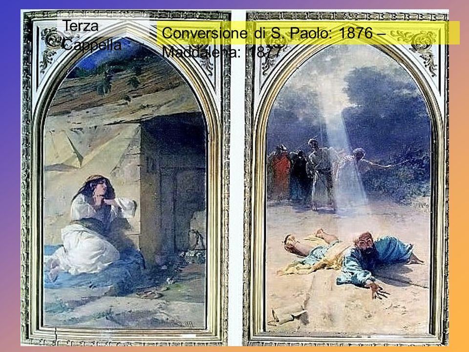Seconda Cappella destra Sposalizio della Vergine: 1875 Trasfigurazione