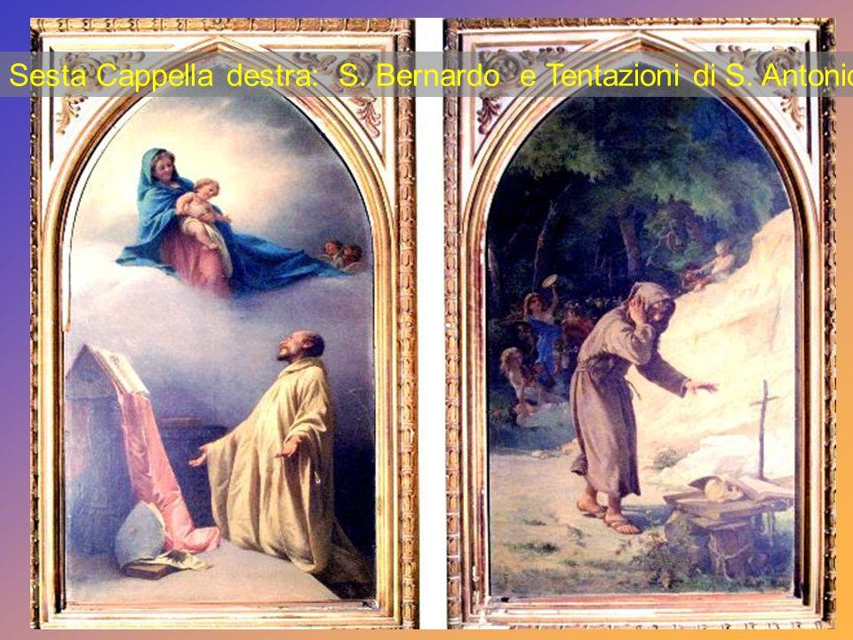 Quinta Cappella destra: Santa Barbara (1877) - Martirio di S. Massimo (1868).
