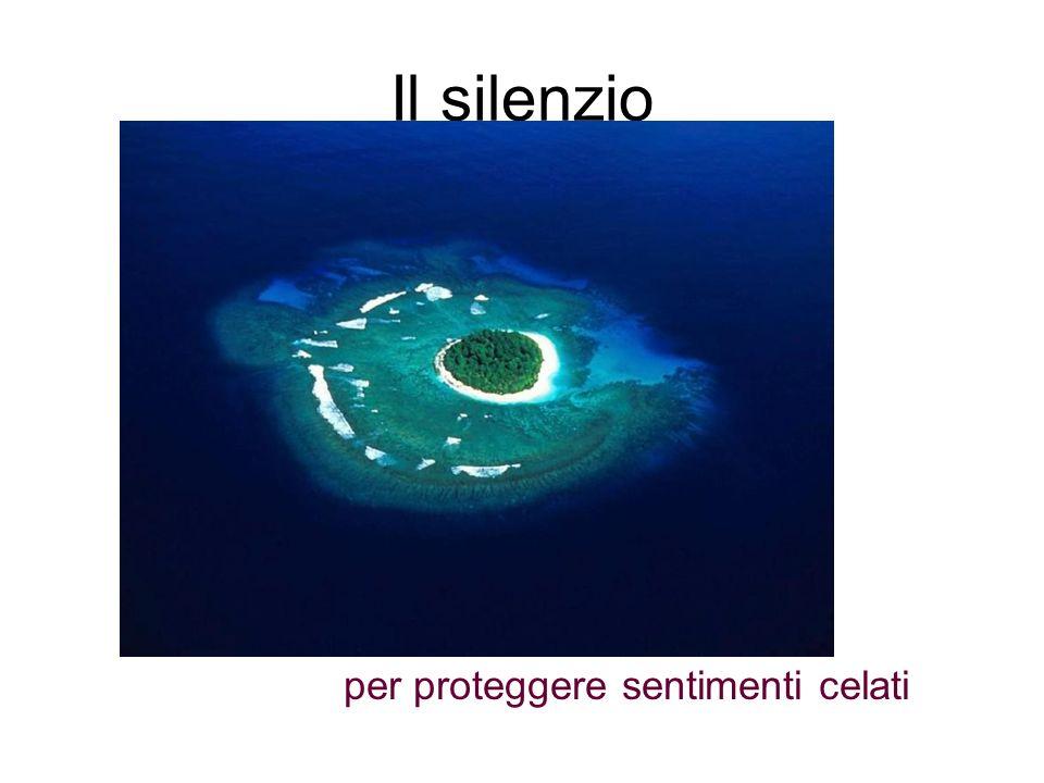 Il silenzio per proteggere sentimenti celati
