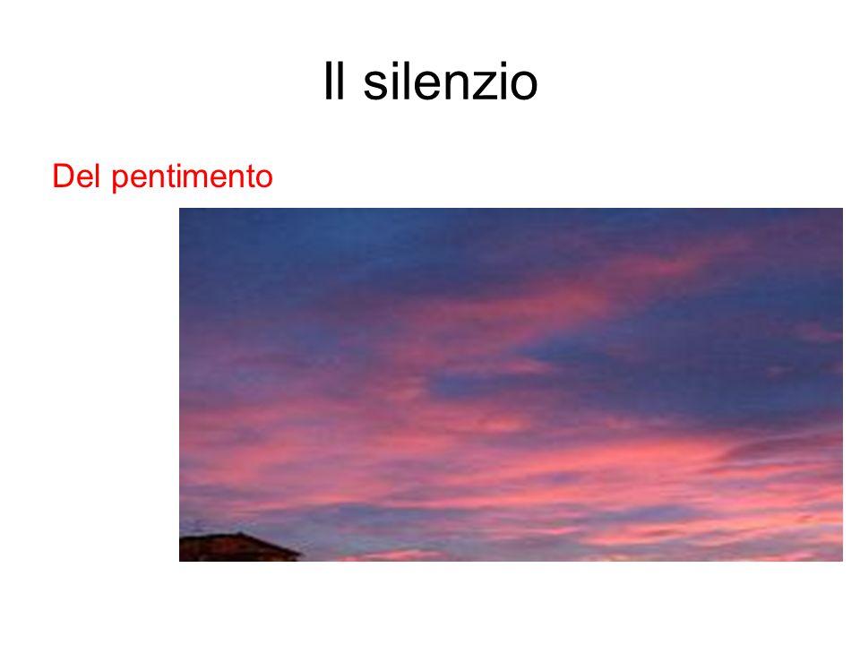 Il silenzio Del pentimento