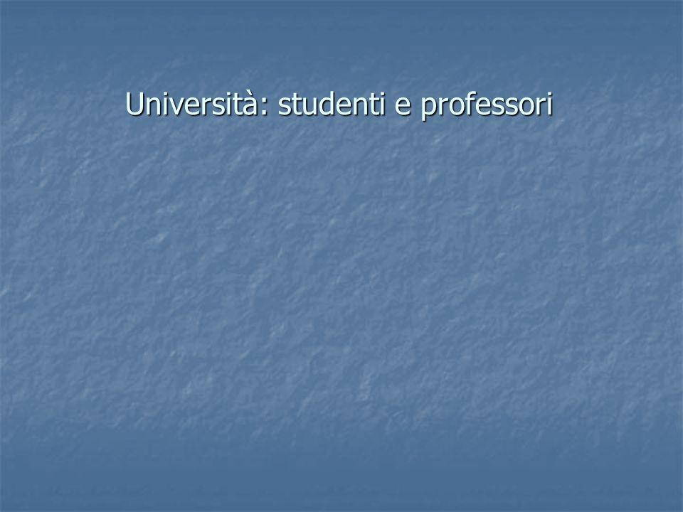Università: studenti e professori
