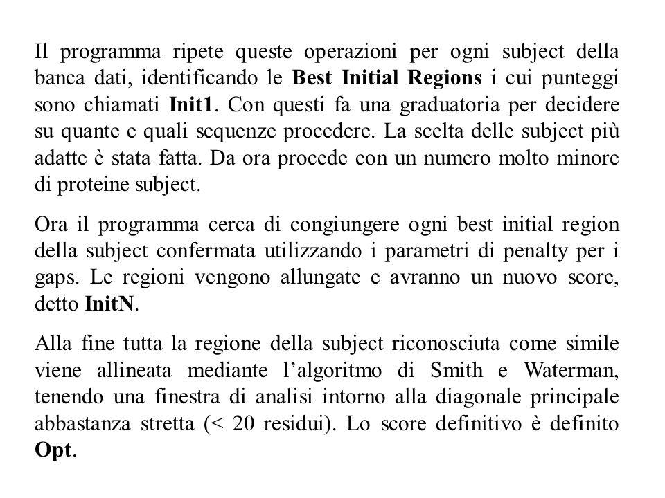 Il programma ripete queste operazioni per ogni subject della banca dati, identificando le Best Initial Regions i cui punteggi sono chiamati Init1. Con