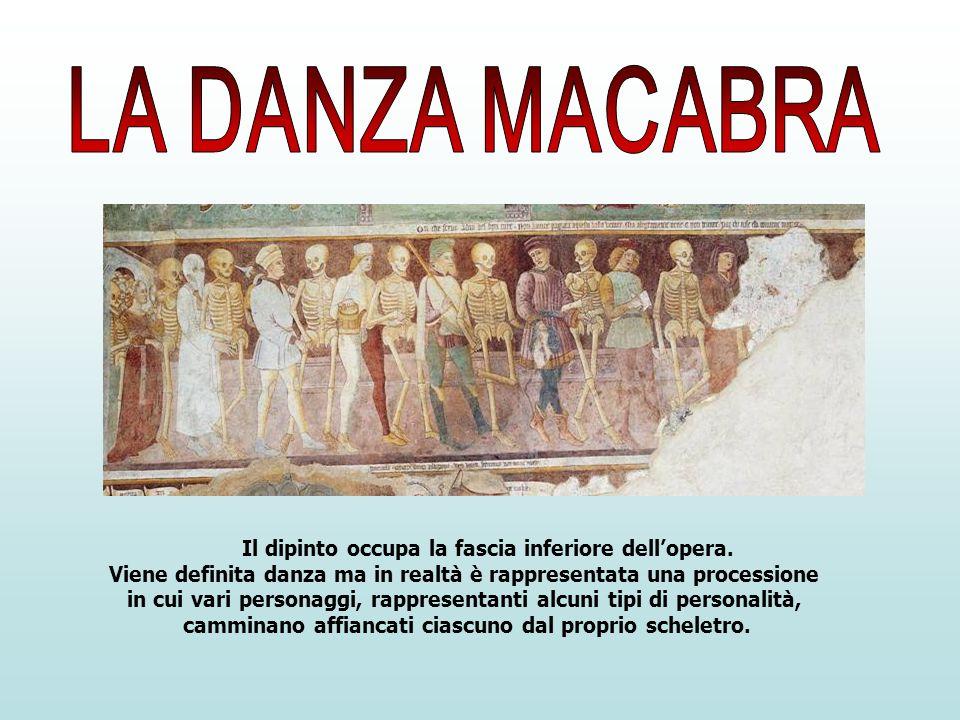 Il dipinto occupa la fascia inferiore dellopera. Viene definita danza ma in realtà è rappresentata una processione in cui vari personaggi, rappresenta