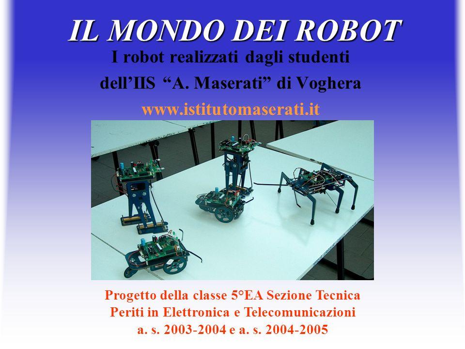 IL MONDO DEI ROBOT I robot realizzati dagli studenti dellIIS A. Maserati di Voghera www.istitutomaserati.it Progetto della classe 5°EA Sezione Tecnica