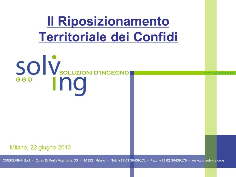 CONSOLVING S.r.l - Corso Di Porta Vigentina, 35 - 20122 Milano - Tel. +39 02 58459171 - Fax. +39 02 58459170 - www.consolving.com www.consolving.com I