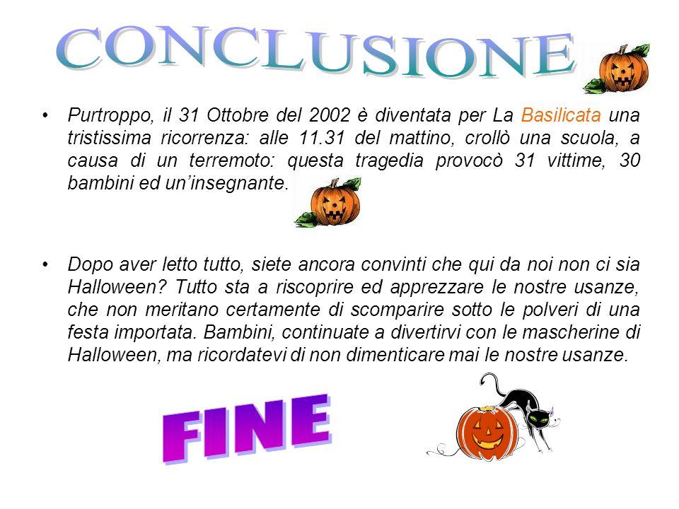 Purtroppo, il 31 Ottobre del 2002 è diventata per La Basilicata una tristissima ricorrenza: alle 11.31 del mattino, crollò una scuola, a causa di un t