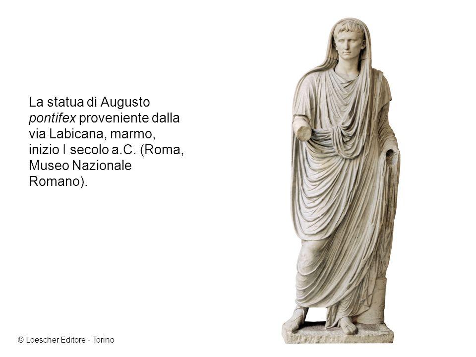 La statua di Augusto pontifex proveniente dalla via Labicana, marmo, inizio I secolo a.C.