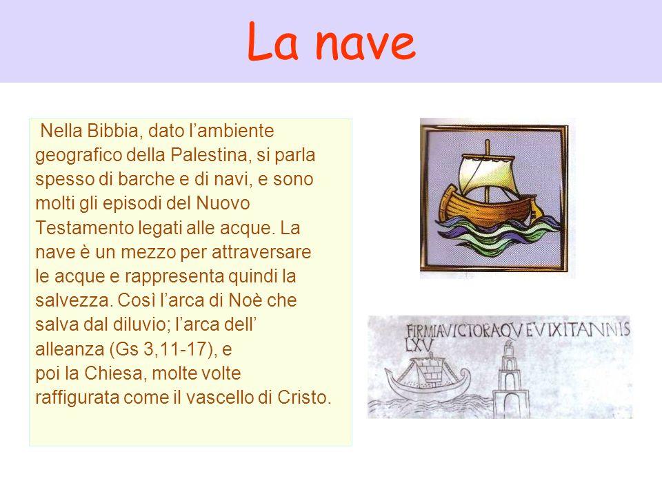 La nave Nella Bibbia, dato lambiente geografico della Palestina, si parla spesso di barche e di navi, e sono molti gli episodi del Nuovo Testamento le