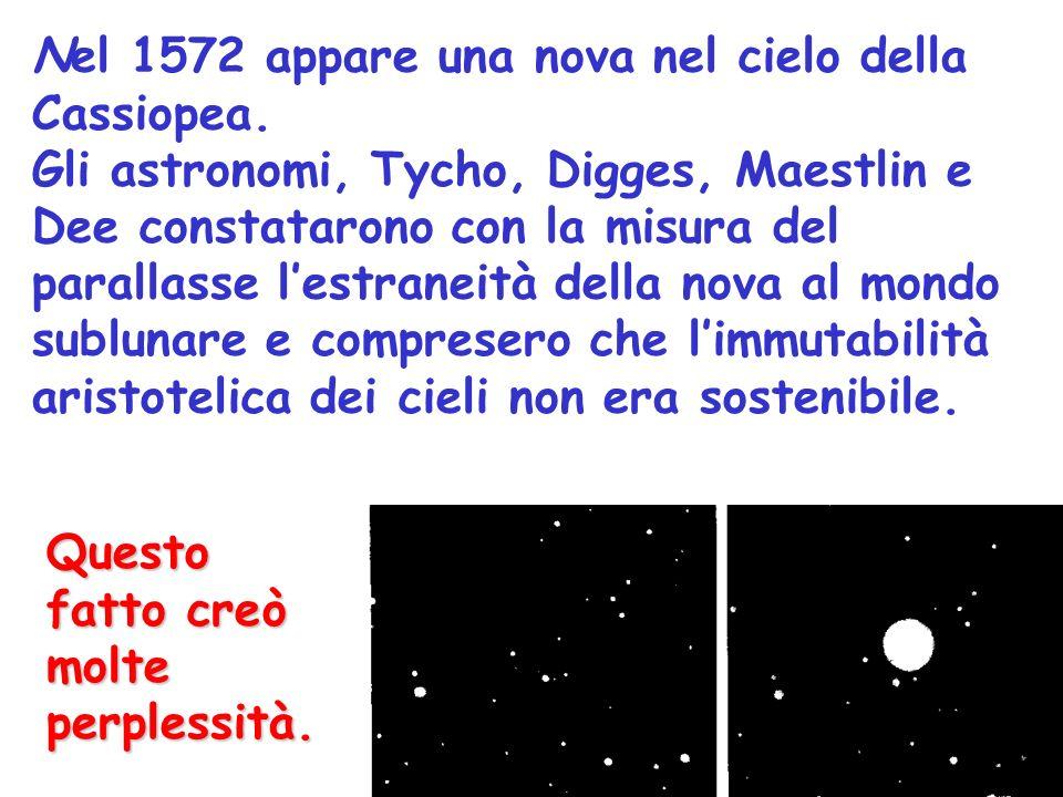 Nel 1572 appare una nova nel cielo della Cassiopea.