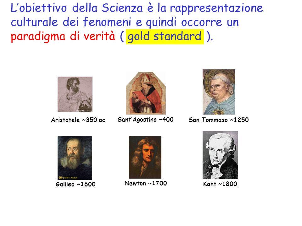 Lobiettivo della Scienza è la rappresentazione culturale dei fenomeni e quindi occorre un paradigma di verità ( gold standard ).