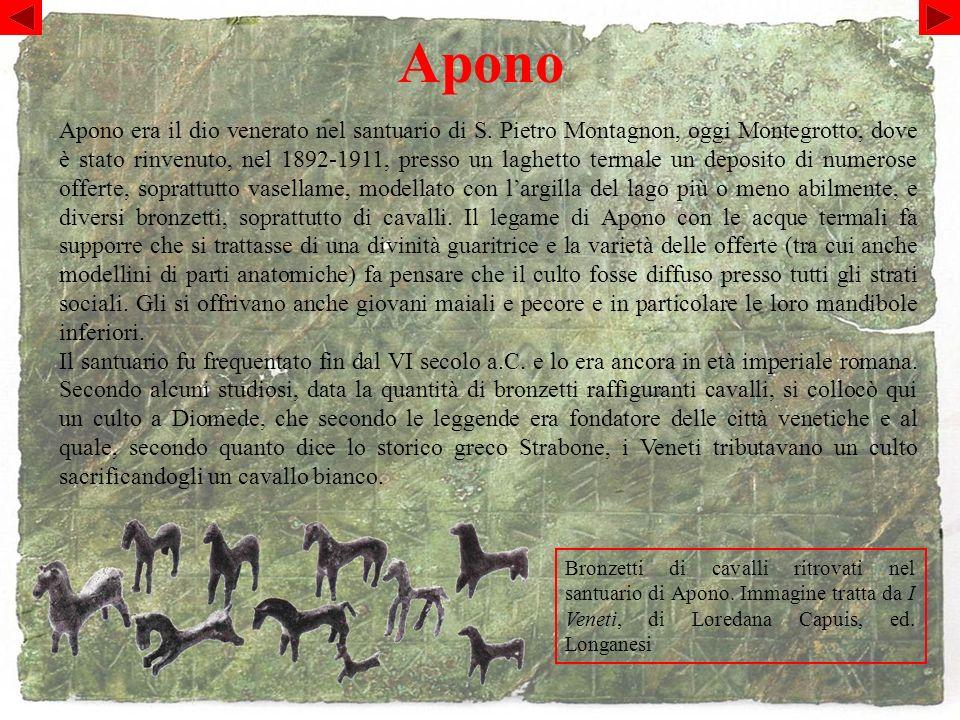 Apono Bronzetti di cavalli ritrovati nel santuario di Apono.