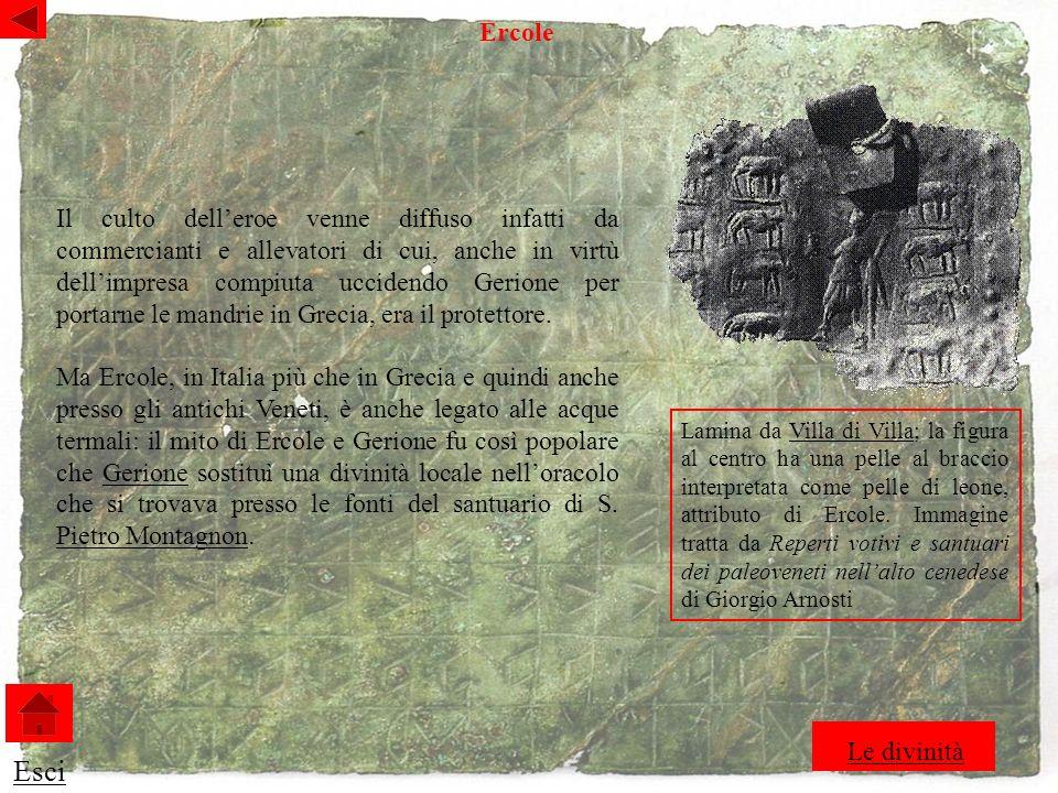 Lamina da Villa di Villa; la figura al centro ha una pelle al braccio interpretata come pelle di leone, attributo di Ercole.