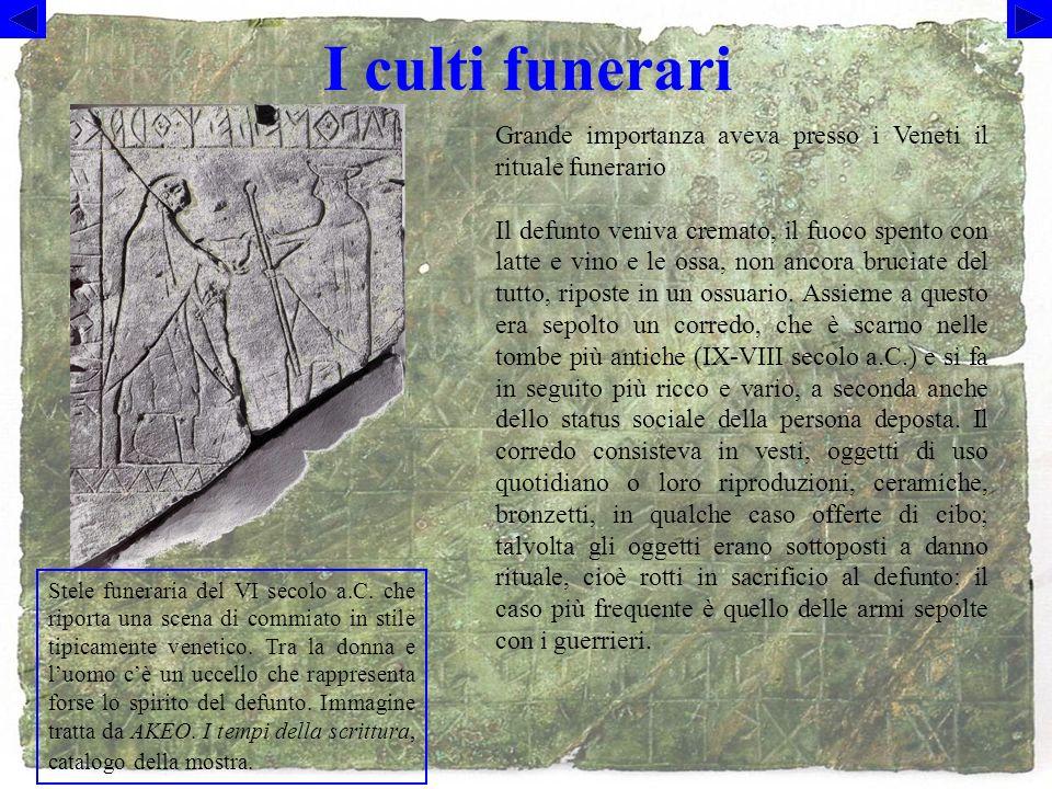 I culti funerari Stele funeraria del VI secolo a.C.