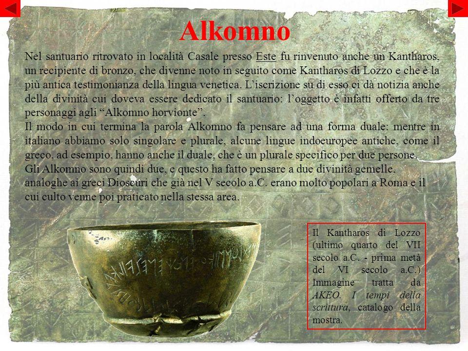 Alkomno Il Kantharos di Lozzo (ultimo quarto del VII secolo a.C.