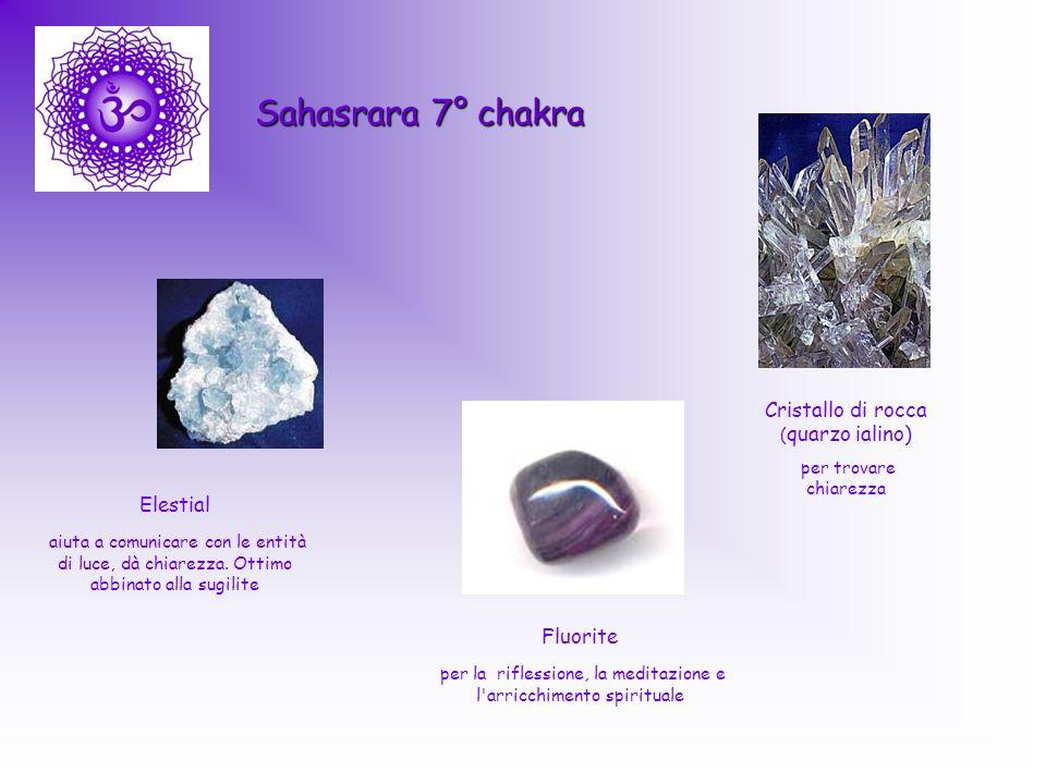 Sahasrara 7° chakra Cristallo di rocca ( quarzo ialino) per trovare chiarezza Elestial aiuta a comunicare con le entità di luce, dà chiarezza. Ottimo