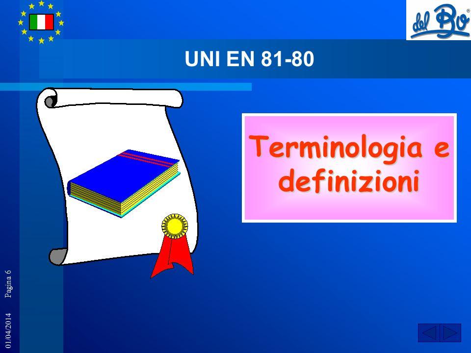 01/04/2014 Pagina 6 Terminologia e definizioni UNI EN 81-80