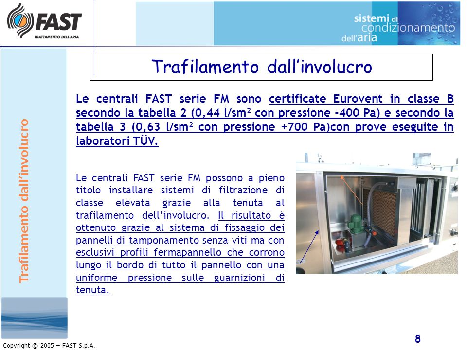 9 Copyright © 2005 – FAST S.p.A.