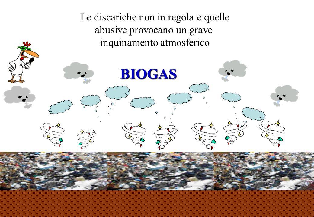 36 Le discariche non in regola e quelle abusive provocano un grave inquinamento atmosferico BIOGAS