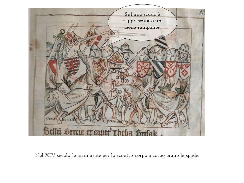 Sul mio scudo ci sono rappresentati tre scudi più piccoli. Io sono un cavaliere lussemburghese e mi distinguo dagli altri per il mio stemma. I cavalli