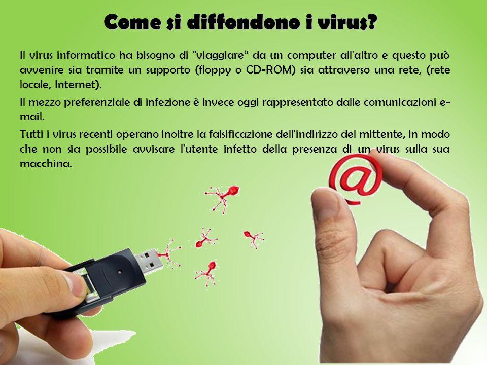 Come si diffondono i virus? Il virus informatico ha bisogno di