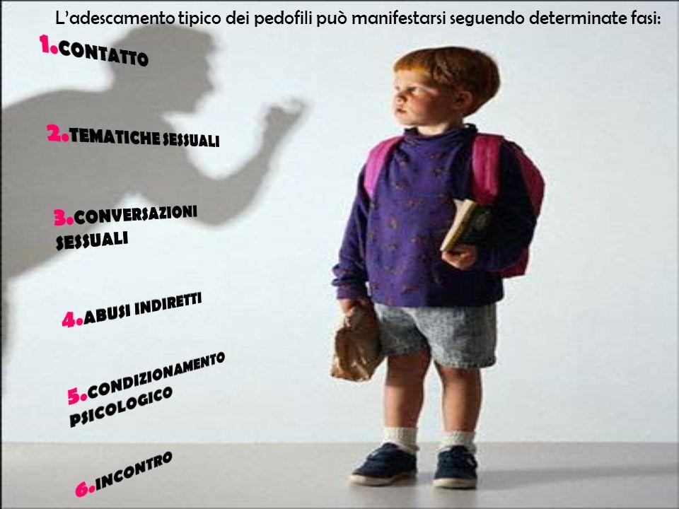 Ladescamento tipico dei pedofili può manifestarsi seguendo determinate fasi: