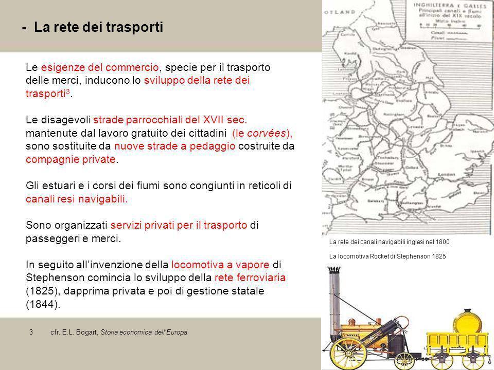 7 - La rete dei trasporti Le esigenze del commercio, specie per il trasporto delle merci, inducono lo sviluppo della rete dei trasporti 3. Le disagevo