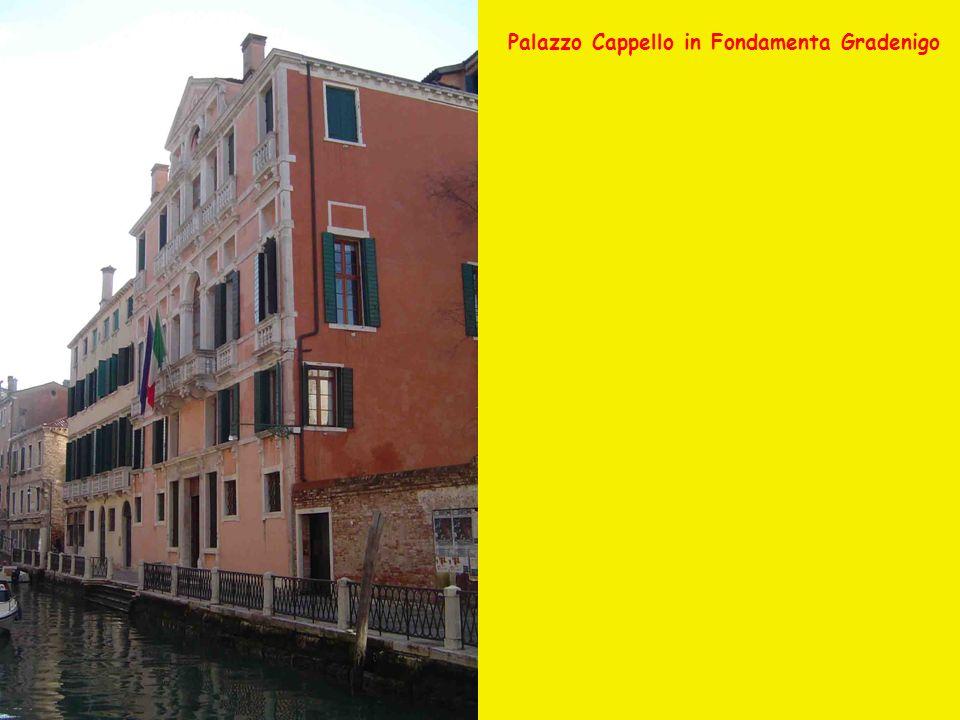Palazzo Cappello in Fondamenta Gradenigo