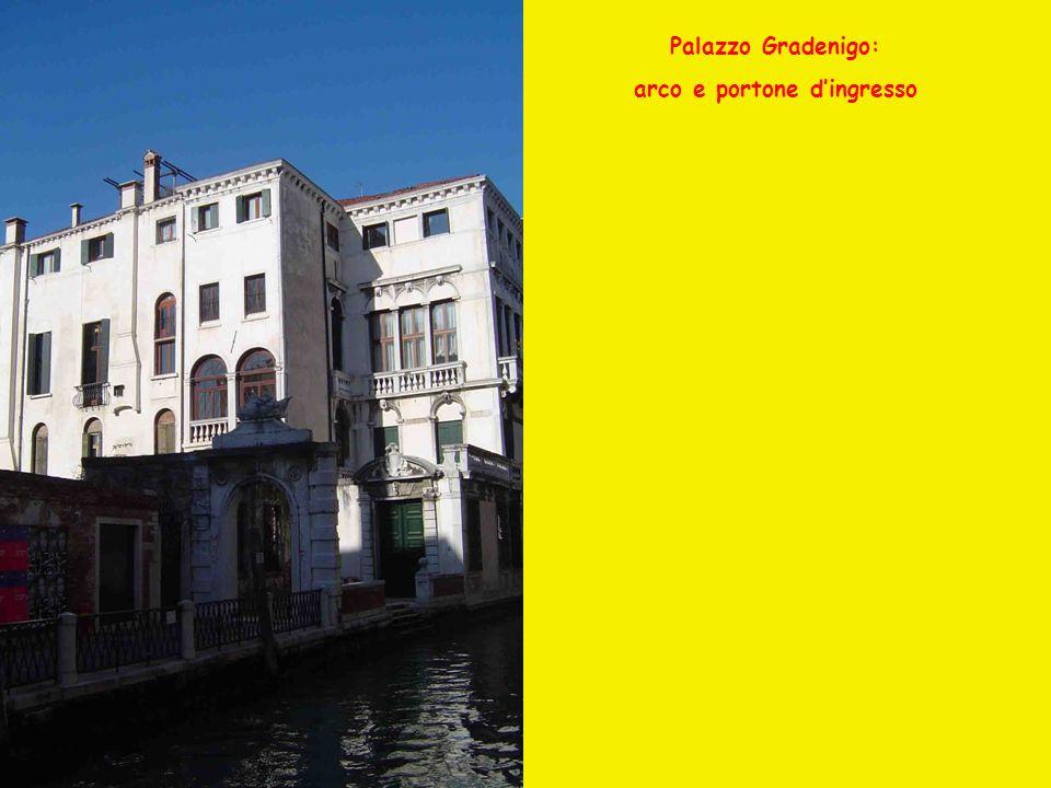 Palazzo Gradenigo: arco e portone dingresso