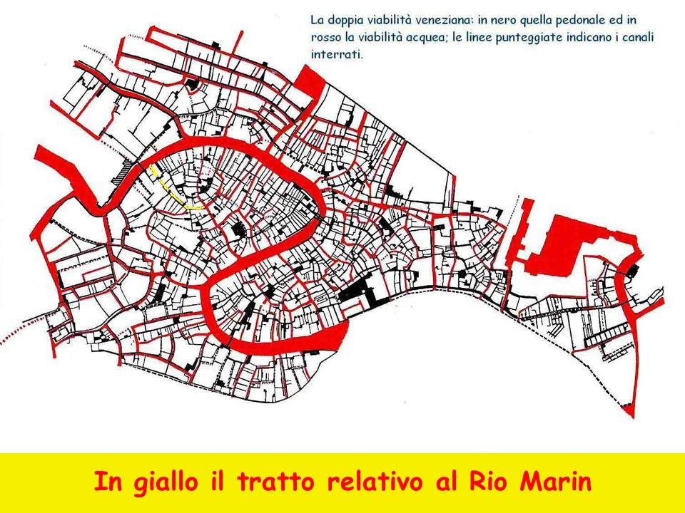 In giallo il tratto relativo al Rio Marin