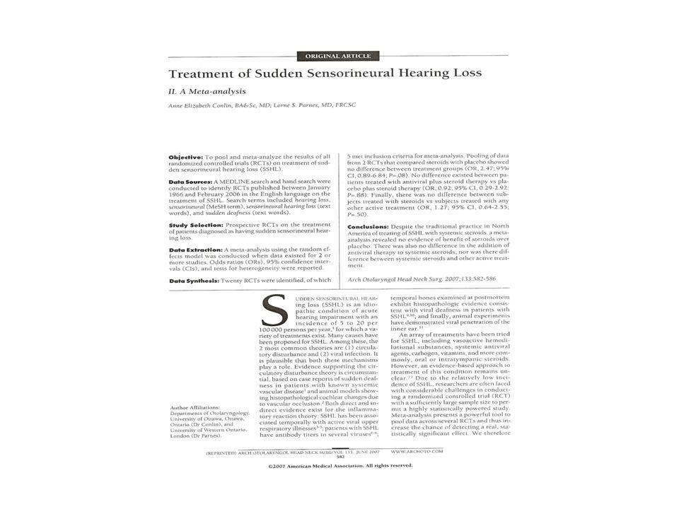 Grande incidenza – poche certezze Terapie empiriche - Risultati mal Interpretabili Metanalisi Criticità della patologia