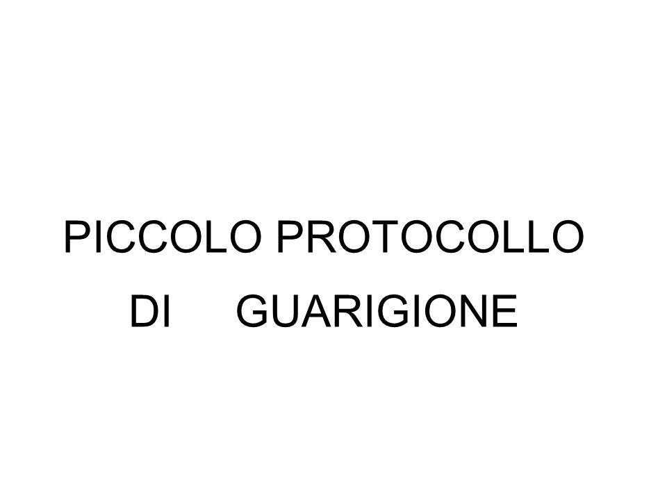 PICCOLO PROTOCOLLO DI GUARIGIONE