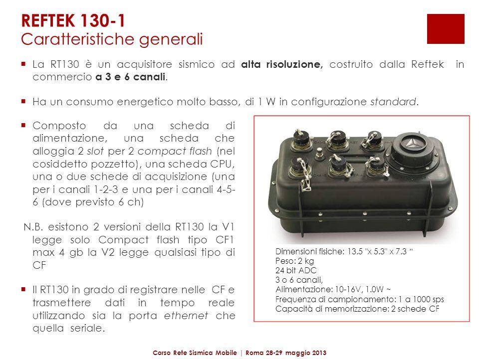REFTEK 130-1 Facilmente configurabile tramite palmare, dispositivi Apple (no IO5) o tramite interfaccia browser.