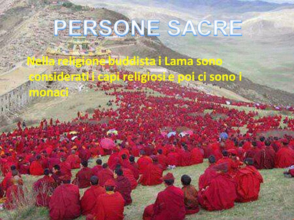 Nella religione buddista i Lama sono considerati i capi religiosi e poi ci sono i monaci