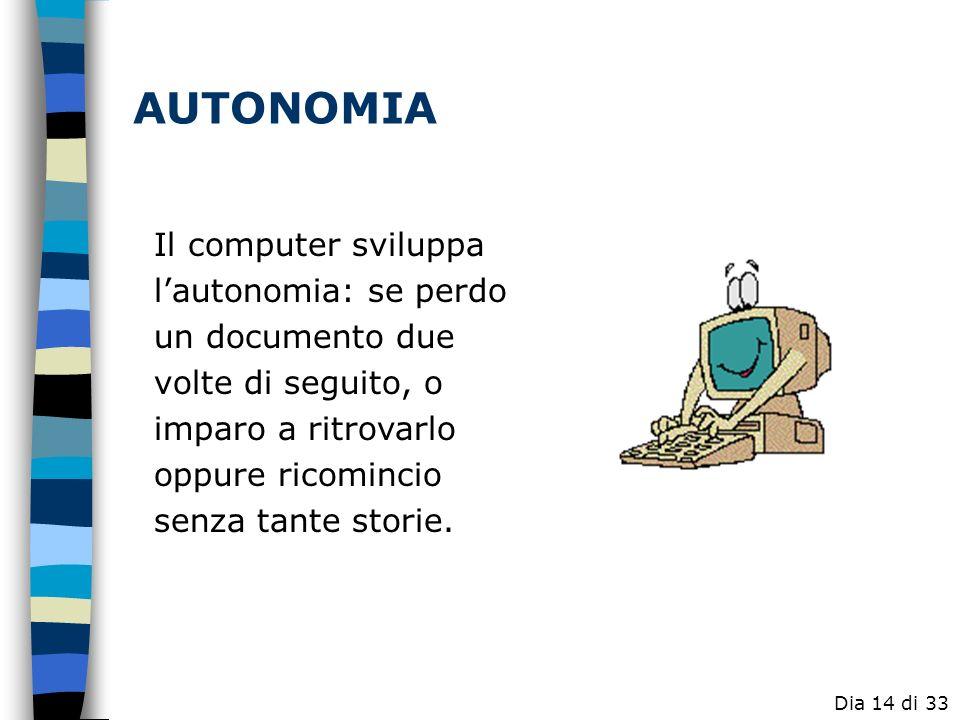 Il computer ci abitua, a volte forzatamente, a volte deliberatamente a sviluppare creativamente un certo prodotto, dandoci la possibilità di sviluppar