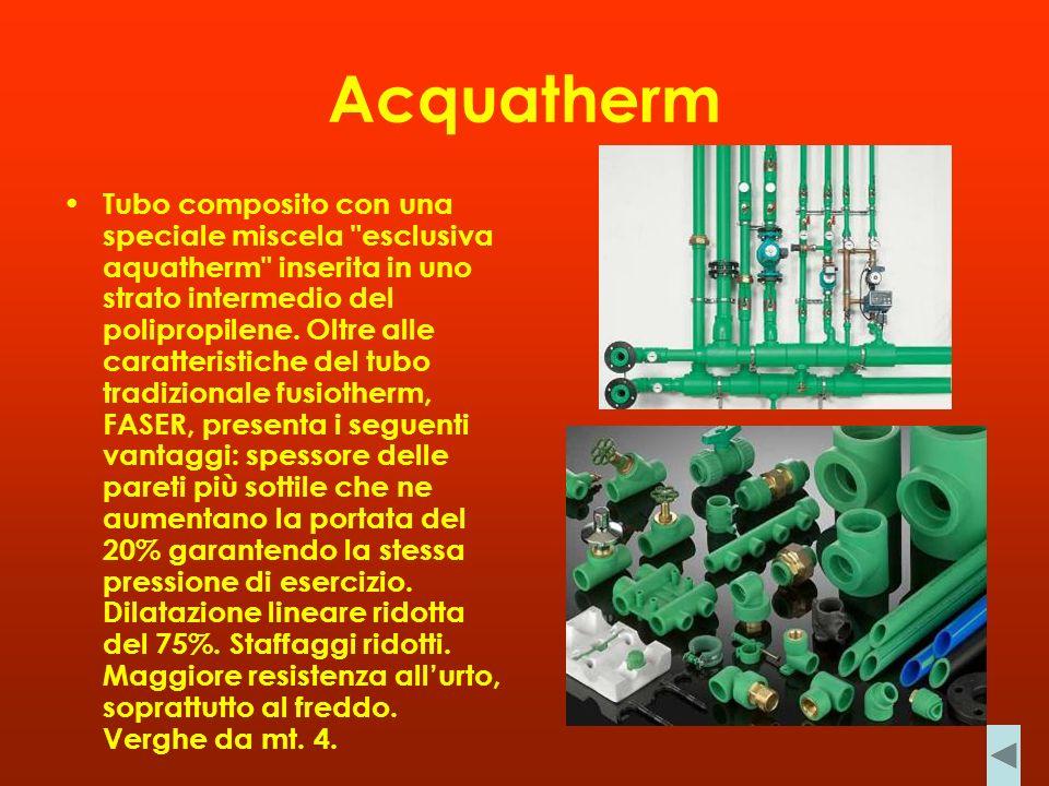 Acquatherm Tubo composito con una speciale miscela esclusiva aquatherm inserita in uno strato intermedio del polipropilene.