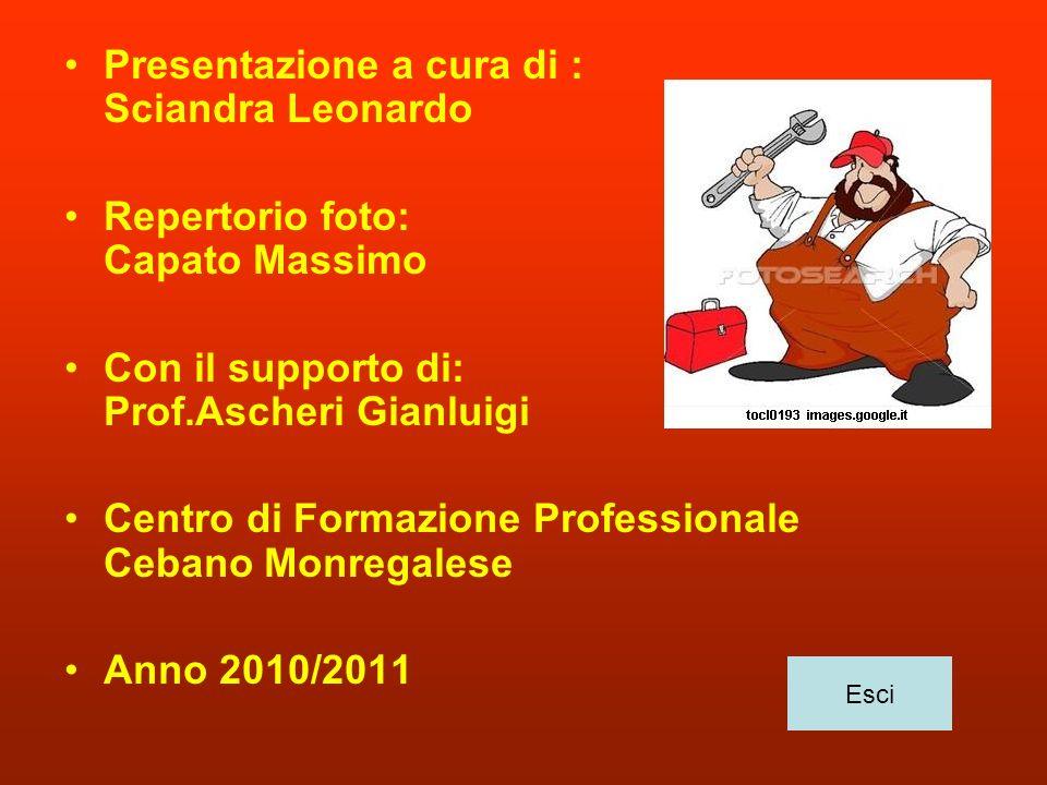 Presentazione a cura di : Sciandra Leonardo Repertorio foto: Capato Massimo Con il supporto di: Prof.Ascheri Gianluigi Centro di Formazione Profession